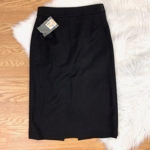Alexander McQueen Black Pencil Midi Skirt {GD2}